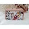 Kép 3/6 - Virág mintás elegáns női pénztárca rózsaszín