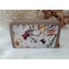Kép 3/6 - Virág mintás elegáns női pénztárca barna