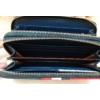 Kép 5/7 - Kék fehér piros csíkos vastag dupla cipzáros női pénztárca
