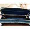 Kép 6/7 - Kék fehér piros csíkos vastag dupla cipzáros női pénztárca