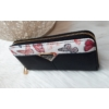 Kép 2/5 - Pillangó mintás női pénztárca fekete