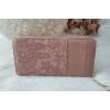 Kép 3/5 - Csipke virág mintás női pénztárca szivecske dísszel rózsaszín