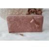 Kép 1/5 - Masni díszes csipke virág mintás női pénztárca rózsaszín