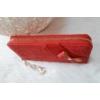 Kép 2/5 - Masni díszes csipke virág mintás női pénztárca piros