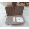 Kép 4/6 - Pöttyös mintás női pénztárca barna