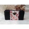Kép 8/12 - Black flower II táska pénztárca szett