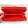 Kép 5/5 - Négyzet mintás vastag nagy méretű női pénztárca lakk piros