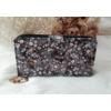 Kép 3/6 - Apró virág mintás vastag nagy méretű női pénztárca fekete