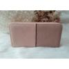 Kép 3/5 - Csipke virág mintás egyszínű női pénztárca rózsaszín
