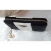 Kép 2/5 - Csíkos mintás női pénztárca fekete