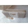 Kép 2/5 - Csíkos mintás női pénztárca vajszínű