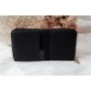 Kép 1/5 - Csíkos mintás egyszínű női pénztárca fekete