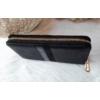 Kép 2/5 - Csíkos mintás egyszínű női pénztárca fekete