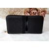Kép 3/5 - Csíkos mintás egyszínű női pénztárca fekete