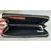 Kép 4/5 - Csíkos mintás egyszínű női pénztárca fekete