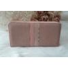 Kép 3/5 - Csíkos mintás egyszínű női pénztárca rózsaszín