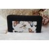 Kép 8/11 - Black flower táska pénztárca szett