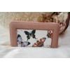 Kép 1/5 - Pillangó mintás női pénztárca rózsaszín