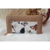 Kép 1/5 - Pillangó mintás női pénztárca barna