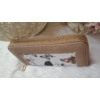 Kép 2/5 - Pillangó mintás női pénztárca barna