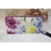 Kép 3/4 - Virág mintás elegáns női pénztárca lila