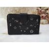 Kép 1/6 - Nyomott pillangó mintás elegáns női pénztárca fekete