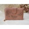 Kép 1/6 - Nyomott pillangó mintás elegáns női pénztárca rózsaszín