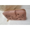 Kép 2/6 - Nyomott pillangó mintás elegáns női pénztárca rózsaszín