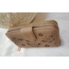 Kép 2/6 - Nyomott pillangó mintás elegáns női pénztárca barna