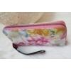 Kép 2/4 - Virág mintás elegáns női pénztárca rózsaszín