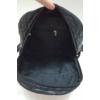 Kép 6/6 - Pufis varrott rombusz mintás hátitáska bojt dísszel fekete
