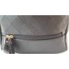 Kép 2/5 - Varrott rombusz mintás női hátitáska fekete