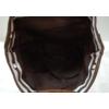 Kép 4/4 - Csíkos mintás szövet hátitáska barna fehér