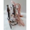 Kép 4/7 - Kis méretű virág mintás elegáns hátitáska rózsaszín