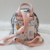 Kép 5/7 - Kis méretű virág mintás elegáns hátitáska rózsaszín