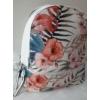 Kép 2/7 - Flamingo virág mintás elegáns női hátitáska fehér