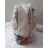 Kép 3/7 - Flamingo virág mintás elegáns női hátitáska fehér
