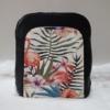 Kép 1/7 - Flamingó virág mintás elegáns női hátitáska fekete