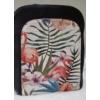 Kép 2/7 - Flamingó virág mintás elegáns női hátitáska fekete