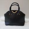 Kép 1/5 - V díszes merev falú elegáns női táska fekete