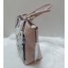 Kép 3/5 - Virág mintás női válltáska rózsaszín