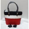 Kép 3/10 - Black strip táska pénztárca szett