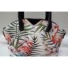 Kép 2/5 - Flamingó virág mintás elegáns női táska fekete