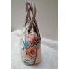 Kép 3/5 - Flamingó virág mintás elegáns női táska rózsaszín