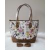Kép 3/12 - Brown flower táska pénztárca szett