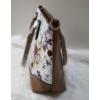 Kép 3/5 - Virág mintás elegáns női válltáska barna