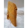 Kép 3/5 - Varrott rombusz mintás bojt díszes női oldaltáska sárga