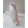 Kép 3/5 - Csipke virág mintás oldaltáska bojt dísszel fehér