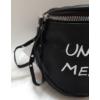 Kép 3/6 - Keresztpántos női táska felirattal fekete