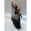 Kép 3/5 - Kis méretű női oldaltáska bojt dísszel fekete